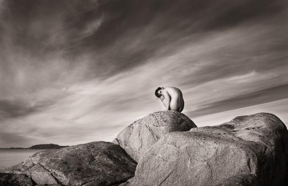 Årets bilde TKK - Skulptur på svarberg - Håkon Grønning