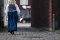 Portrett i veiter i Trondheim ifm TKKs jubileumsutstilling
