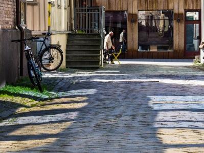 Foto: Liv Stadsøy   Tittel: Refleksjoner på brostein   Sted: Brattørveita
