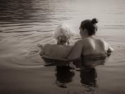 """Anne Katharine Dahl, """"Kveldsbad for Ingrid og mormor"""""""